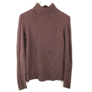 Sundance | Turtleneck Sweater Chunky Knit Silk M